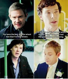 That's what I thought of when Sherlock was making his best man speech. I was waiting for this