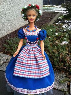 Puppenkleidung - Barbiekleid Dirndl Bayrische Madl' - ein Designerstück von kreativer-Hadasch bei DaWanda