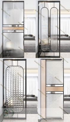 Glass Partition Designs, Wall Partition Design, Partition Screen, Living Room Partition, Glass Design, Door Design, Wall Design, House Design, Glass Partition Wall