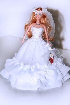 traje de noiva para boneca