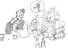 Clown Horror, Bendy And The Ink Machine, Horror Movies, Cute Art, Fanart, Characters, Cartoon, Halloween, Anime