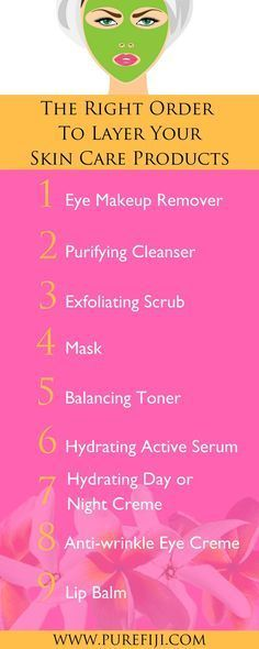 DIY Skin Care | Follow these steps to to ensure that your skin is getting the most out of each product. If you will  never reach their full impact. Learn how to use these anti aging natural skin care products in your morning and night time routine in the right order at http://www.purefiji.com/blog/right-order-wash-face/ | Coconut Oil For Natural Beauty