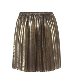 Isabel Marant, Étoile - Manda metallic pleated skirt - Complete your ensemble on a sparkling note courtesy of Isabel Marant, Étoile. The Manda style is crafted in a dark golden hue and pleated to perfection for an eye-catching look.- @ www.mytheresa.com