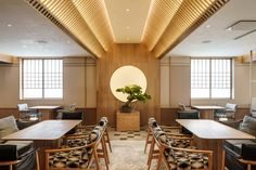 Wabi-sabi inspired Japanese interior by Red Design Japanese Restaurant Design, Japanese Interior Design, Japanese Design, Red Design, Modern Design, Design Elements, Bar Lounge, Interior Design Companies, Cafe Restaurant