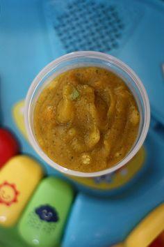 Purée carotte & courgette, avec morceaux (dès 12 mois) bébé salé Baby Food Recipes, Baby Recipes, Kids Meals, Menu, Vegetarian, Treats, Vegetables, Comme, Robin