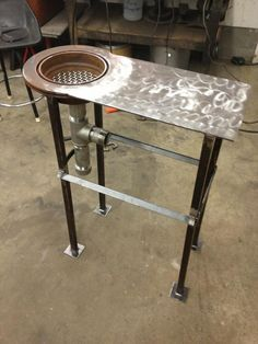 My Homemade Forge! - The Garage Journal Board - nice shape for a sink or other tools too