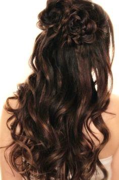 half up half down wedding hair tutorial