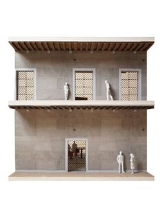 OMA's Fondaco dei Tedeschi Department Store is Revealed in Venice,Il Fondaco dei Tedeschi, Gallerias with OMA designed gates, model picture. Image Courtesy of OMA