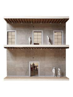 OMA's Fondaco dei Tedeschi Department Store is Revealed in Venice,Il Fondaco dei Tedeschi, Gallerias with OMA designed gates, model picture. Image Courtesy of OMA