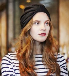 Jones Turban Headband - Noir by Robin Hoods on Scoutmob Shoppe. Amazing turban with an elastic back for easy styling. In deep black satin.