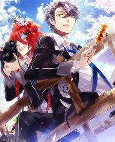 Starry☆Sky ~~ Not all friendships make sense on the surface Anime Romance, Sky Images, Illustration, Starry Sky, Image, Sky Anime, Starry, Art, Anime