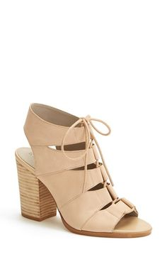 Hinge 'Drea' Peep Toe Leather Sandal (Women) available at #Nordstrom