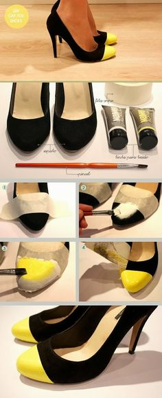 DIY Projects: DIY Make Your Own Cap Toe! Genialt hvis du har fått stygge merker på tuppene.