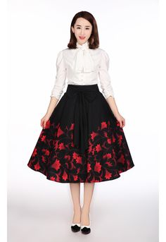fbec721f23fa8 1950s Circle Skirt By Amber Middaugh Standard Size  49.95 Plus Size  55.95  Tuxedo Dress