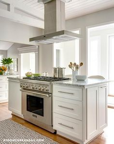 Kitchen Island With Slide In Stove custom zinc hood all metals and all sizes with vent motor wall or