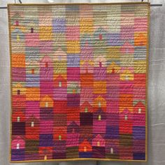 My next project - safe as houses. ❤️❤️❤️ (Inspirations from Quiltcon 2015 in Austin, TX.)