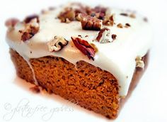 Gluten-Free Pumpkin Cake with Maple Icing