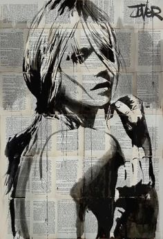 To be by Loui Jover. Art Visage, Australian Painters, Newspaper Art, Collage Art, Amazing Art, Pop Art, Art Drawings, Saatchi Art, Street Art