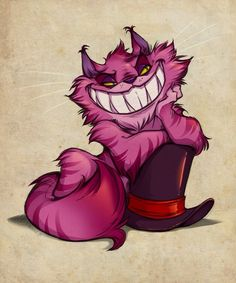 The Cheshire Cat with the Mad-haters hat.