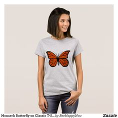 Monarch Butterfly on Classic T-Shirt
