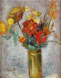 Blomsterstilleben by Isaac Grünewald