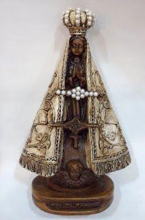 Ateliê Le Mimo: RELIGIOSO Nossa Senhora Aparecida - peça em gesso