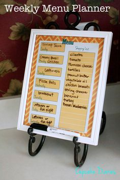 FREE Weekly Menu Planner Printable (4 colors) from Cupcake Diaries #menu #planning #organization