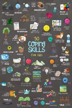 50 Coping Skills for Kids Poster! One of Many Tools in School Self-Regulation Coping Skills Bundle! - 50 Coping Skills for Kids Poster! One of Many Tools in School Self-Regulation Coping Skills Bundle! Social Emotional Learning, Social Skills, Kids Coping Skills, Coping Skills Activities, Health Activities, Couple Activities, Life Skills Kids, Anxiety Activities, Calming Activities