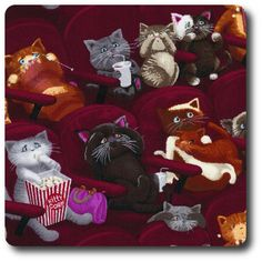 Timeless Treasures Scaredy Cats Wine Color Cotton Fabric By The Yard Cat Wine, Cat Reading, Clumping Cat Litter, Cat Watch, Cat Whisperer, F2 Savannah Cat, Cat Tags, Cotton Crafts, Owning A Cat