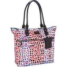 Nine West Handbags 9 on the Go Large Tote Splash/Black - Nine West Handbags Manmade Handbags