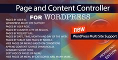 wordpress multisite support, analytics and lot more features…  You can now control pages and content like never before. Zero Coding and solves unlimited number of usecases.  We can define a rule using 12 categories like User Role, Geo location, Date and Time etc and 28 sub categories like (UserId, Country, City, Month, Mobile etc). Click here to view the list of categories and sub-categories for defining the rule.