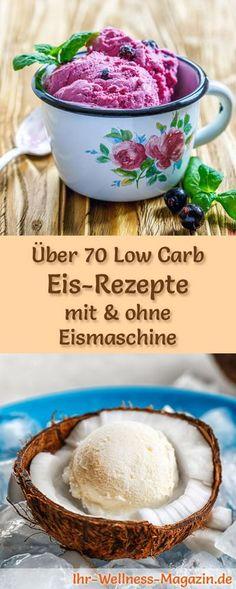 Über 70 Low Carb Eis-Rezepte mit und ohne Eismaschine: Kalorienreduziert, gesund, ohne Zusatz von Zucker ...
