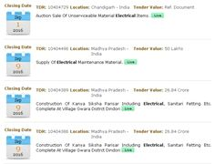 Electrical Tenders 2016, Tender Detail provide all updated details on #tenders online in #India as well as Global. Has fastest Way to get all tender #news on Haryana tenders, Haryana #government tenders and more.