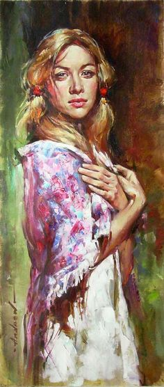 Original Painting, Russian Beauty by Andrew Atroshenko