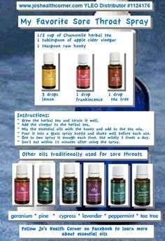 Young Living Essential Oils Sore Throat Spray by jayne