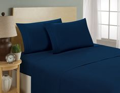 Hotel Collection Sheets by Bellerose King, Navy