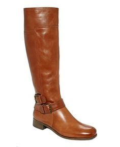 Marc Fisher Shoes, Arty Tall Wide Calf Riding Boots - Boots - Shoes - Macy's