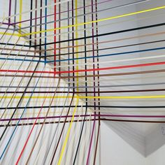 Rebecca Ward uses electrical tape with vinyl adhesives to create visually exciting installations