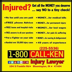 #lawoffice #kennunn #bloomingtonindiana #bloomington #indiana   #personalinjury #wrongfuldeath #caraccident #carcrash #help #injured   #injury #settlement #advice #legal #law #lawyer #attorney #law #office   #bloomington #indiana #bloomingtonindiana #adevert