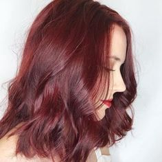 Trends 2018 Red Hair Color : Oooh shiny! You can practically see your reflection in this rich red Aveda hair