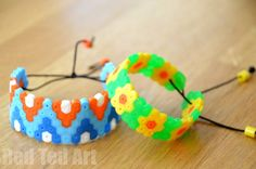 Perler Bead Bracelets - these are fun to make and a great gifts that kids can make and give too!