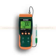 http://logger.nu/temperatur-loggers-r34851/logger-med-sd-kort-for-ph-orp-och-temperatur-53-SDL100-r34861  Logger med SD-kort för pH, ORP och temperatur   Dubbel visning av pH eller mV och temperatur  ATC eller manuell temperaturkompensation  3 punktskalibrering garanterar bästa linjäritet och noggrannhet  Stor bakgrundsbelyst dubbel LCD  Sparar 99 avläsningar manuellt och 20 miljoner avläsningar via 2G SD-kort  Programmerbar samplingsfrekvens  Inbyggt PC-gränssnitt  Min / Max och...