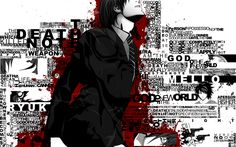 Death Note, Anime Wallpapers HD / Desktop and Mobile Backgrounds Hd Anime Wallpapers, Sword Art Online, Death Note Wallpaper Iphone, Death Note Light, Blood Anime, Typography Wallpaper, Familia Anime, Light Yagami, Full Hd Wallpaper