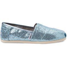 TOMS Blue Glitter Women's Classics