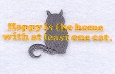 At Least One Cat - 5x7 | Tags | Machine Embroidery Designs | SWAKembroidery.com Starbird Stock Designs