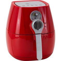 Fritadeira sem Óleo Fun Kitchen Fritalight Retrô 3L Vermelha com 2 Anos de Garantia