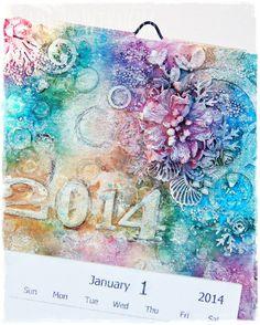 13arts Guest Designer - A calendar by Wikucha - Kalendarz od Wikuchy