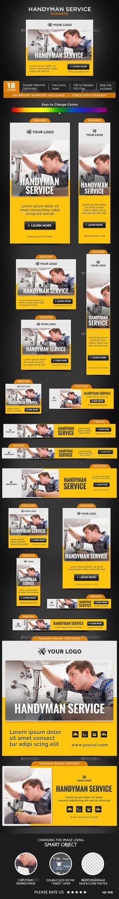 Handyman Service Banners  Banners Font Logo And Fonts