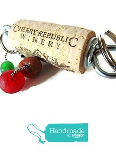 Real Wine Cork Kitchen Hanging #Decor, Stainless Steel Eye Hooks/Washers, Lake Michigan Red Beach Stone, Cherry Theme, American Made from ShorelineDesigned http://www.amazon.com/dp/B0184PBS5S/ref=hnd_sw_r_pi_dp_uuwSwb10A2D2M #handmadeatamazon