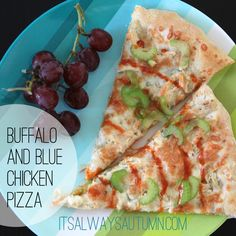 homemade #buffalo chicken #pizza with blue cheese - yum! from itsalwaysautumn.com